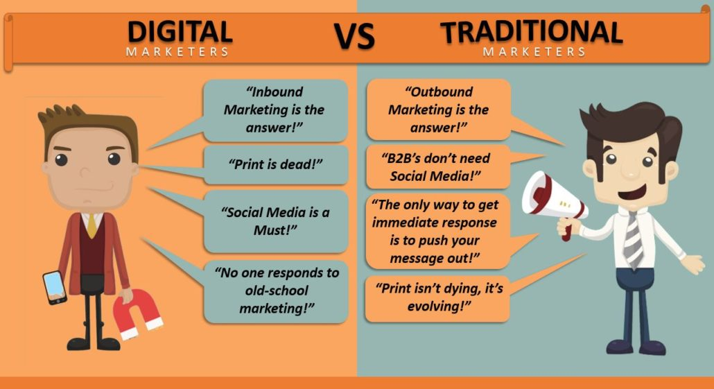 Digital Marketers vs. Traditional Marketers