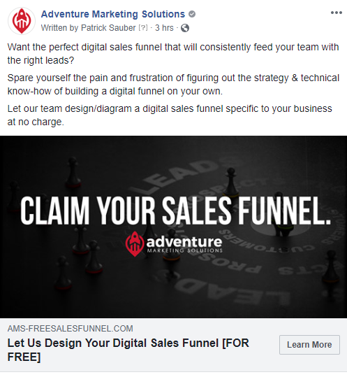Digital Warm Lead FB Ad