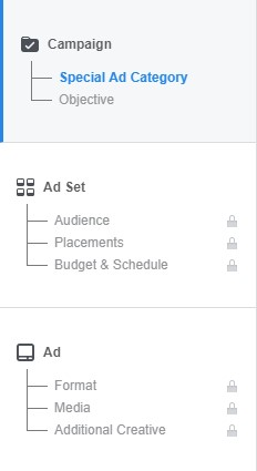Facebook Ad Menu
