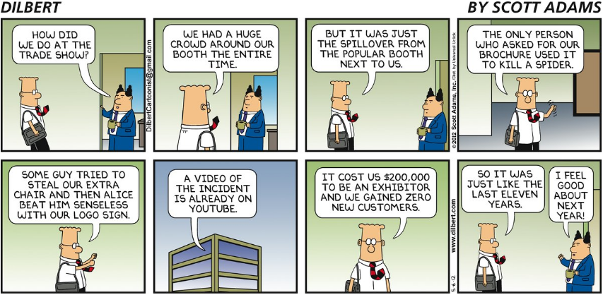 Tradeshow cartoon