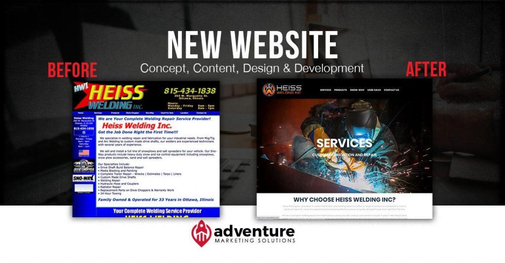 Project Recap Heiss Welding Website
