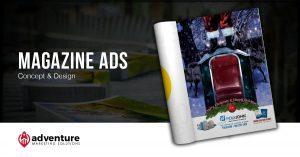 Project Recap PolyJohn Christmas Magazine Ads