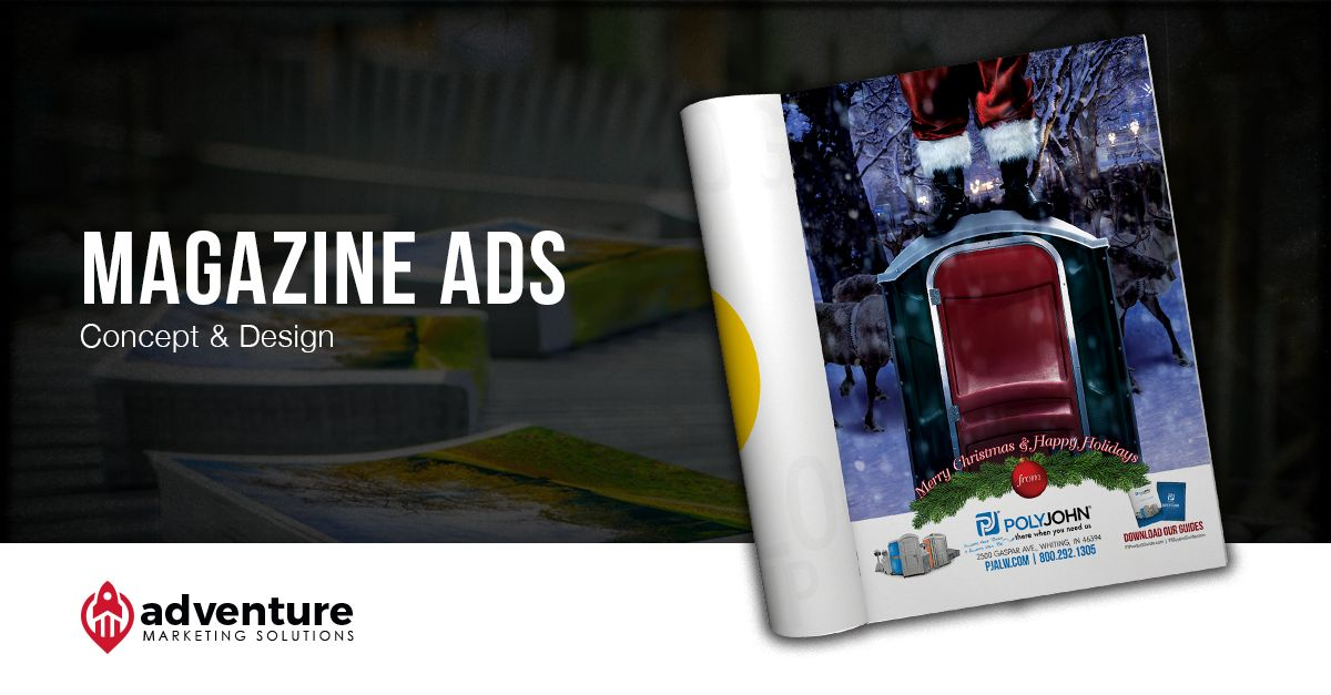 Project Recap PolyJohn Christmas Magazine Ads