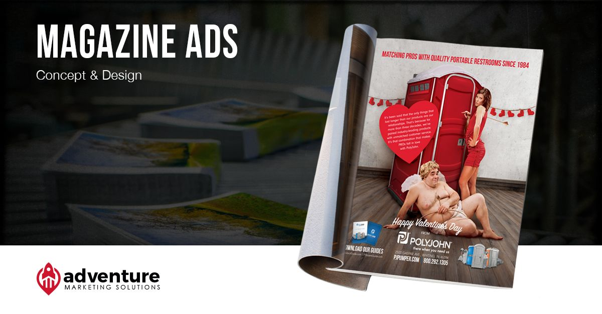 Project Recap PolyJohn Valentine's Day Trade Publication Ad