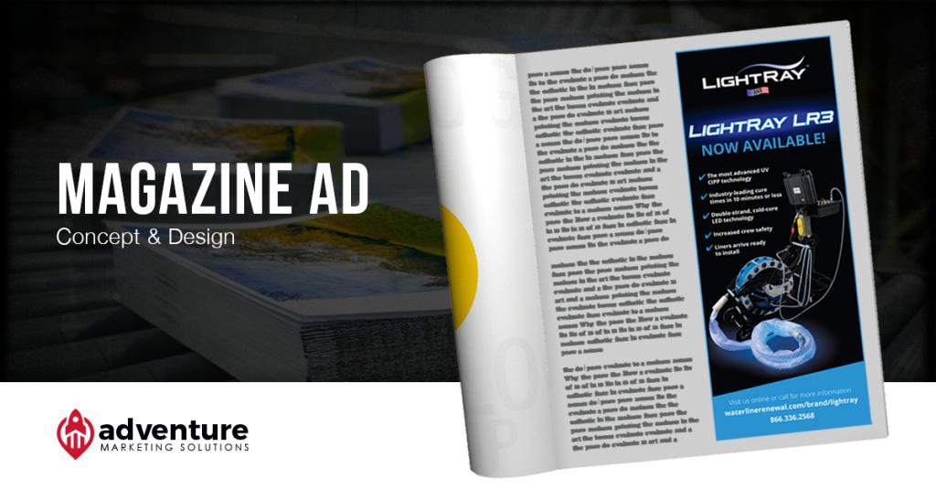 Project Recap LightRay LR3 Magazine Ad