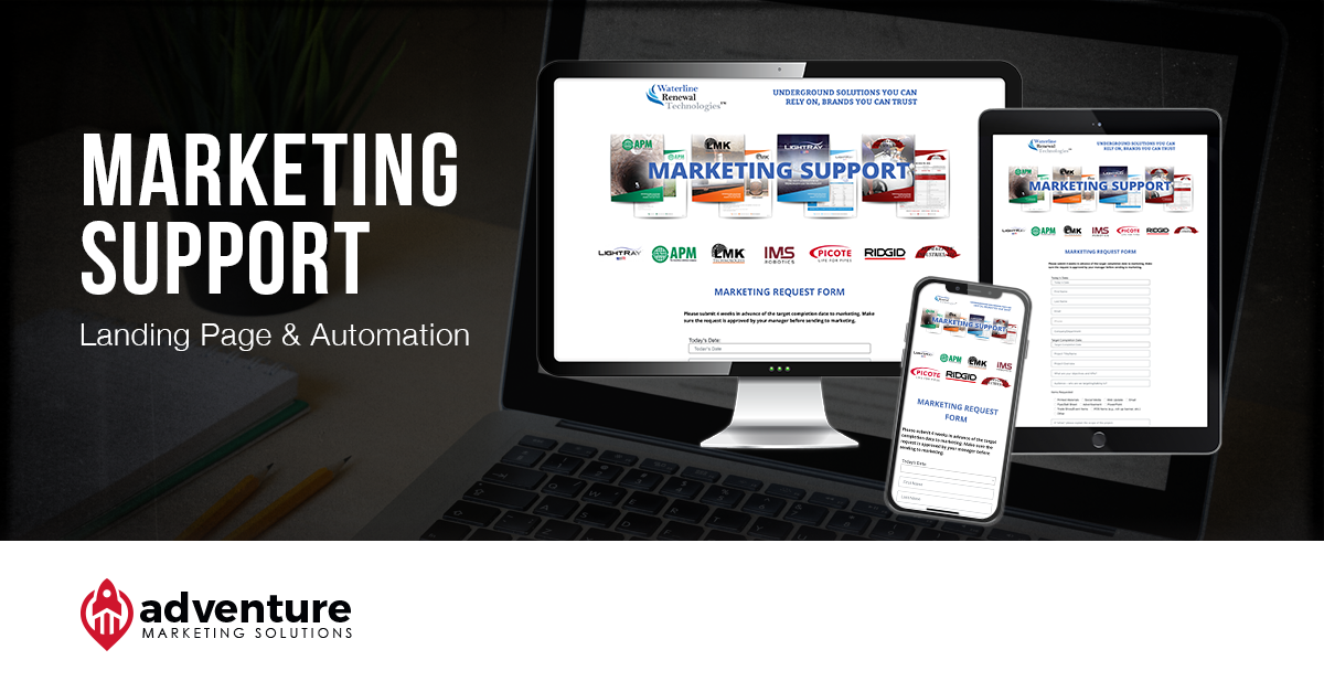 Project Recap WRT Marketing Support Landing Page